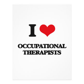 I love Occupational Therapists Flyer Design