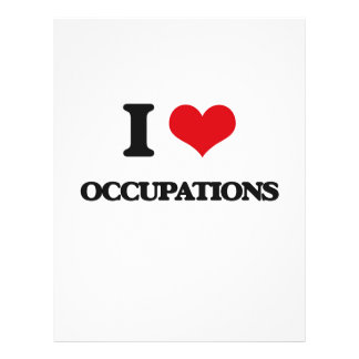 "I love Occupations 8.5"" X 11"" Flyer"