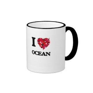 I love Ocean New Jersey Ringer Mug