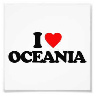 I LOVE OCEANIA ART PHOTO