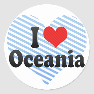I Love Oceania Stickers