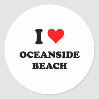 I Love Oceanside Beach California Round Sticker