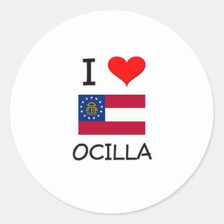 I Love OCILLA Georgia Sticker