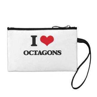 I Love Octagons Change Purses