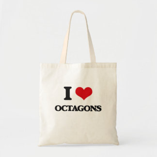 I Love Octagons Tote Bags