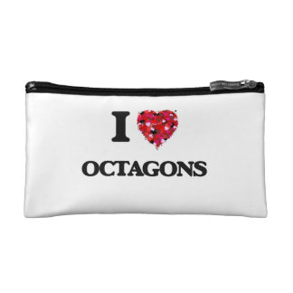 I Love Octagons Cosmetic Bags