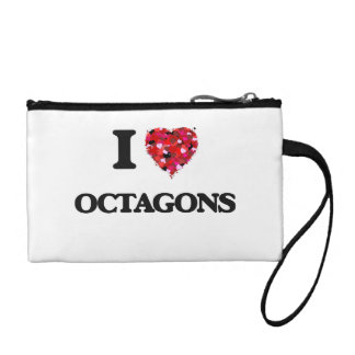 I Love Octagons Coin Purse