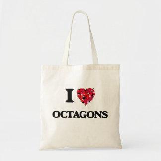 I Love Octagons Budget Tote Bag