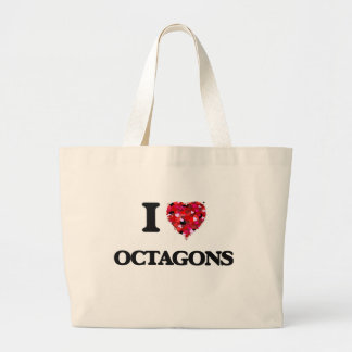 I Love Octagons Jumbo Tote Bag
