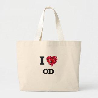 I Love Od Jumbo Tote Bag