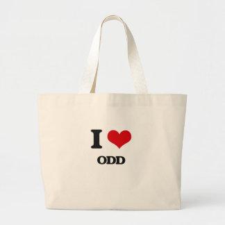 I Love Odd Jumbo Tote Bag