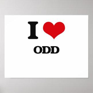 I Love Odd Print