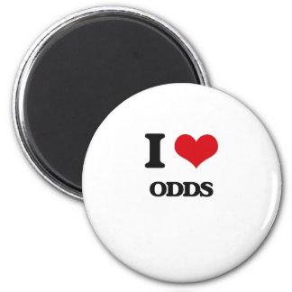 I Love Odds Fridge Magnets