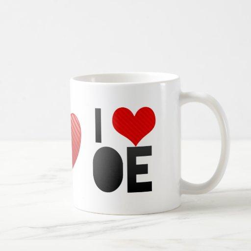 I Love OE Mugs