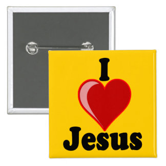 I Love of Jesus Gifts Button
