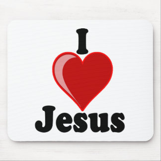 I Love of Jesus Gifts Mouse Pads