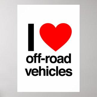 i love off-road vehicles print