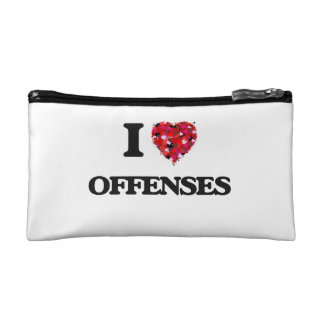 I Love Offenses Makeup Bags