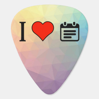 I Love Office Calendars Guitar Pick
