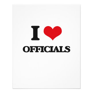 I Love Officials 11.5 Cm X 14 Cm Flyer