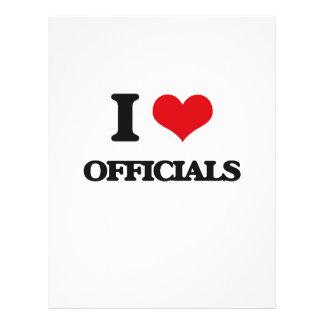 I Love Officials 21.5 Cm X 28 Cm Flyer