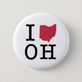 I Love Ohio 6 Cm Round Badge