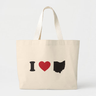 I Love Ohio Canvas Bags