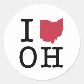 I Love Ohio Classic Round Sticker