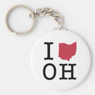 I Love Ohio Key Ring