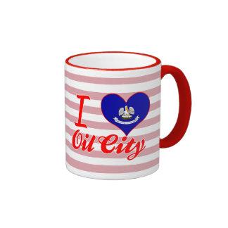 I Love Oil City, Louisiana Ringer Coffee Mug