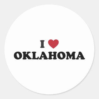 I Love Oklahoma Classic Round Sticker