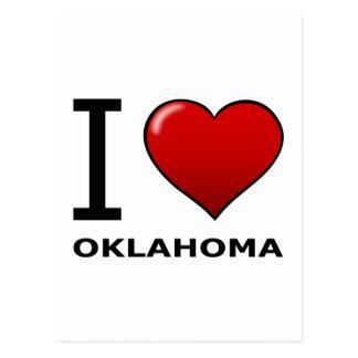 I LOVE OKLAHOMA POSTCARD