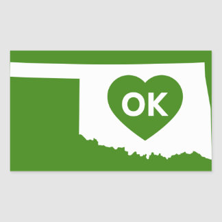 I Love Oklahoma State Stikers Rectangular Sticker