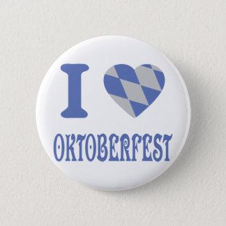 I love oktoberfest 6 cm round badge