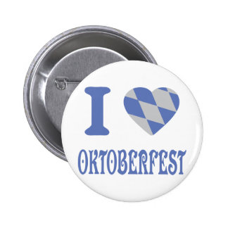 I love oktoberfest 6 cm round badge