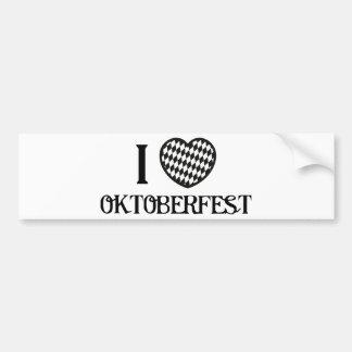 I Love Oktoberfest Bumper Stickers