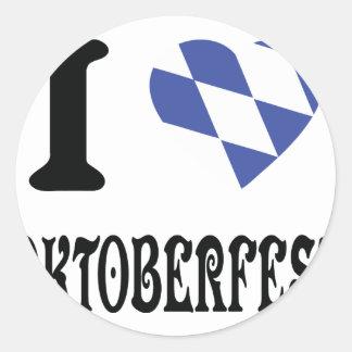 I love oktoberfest icon round sticker