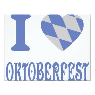 I love oktoberfest 4.25x5.5 paper invitation card