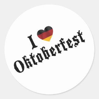 I Love Oktoberfest Round Stickers
