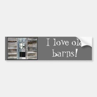 I love old barns! bumper sticker