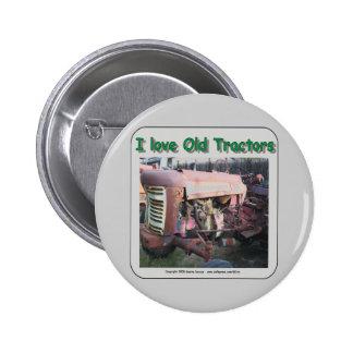I love old IH tractors 6 Cm Round Badge