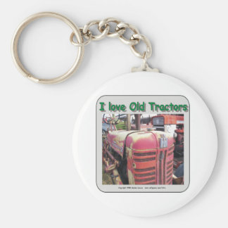 I love old International Harvester tractors Key Chain