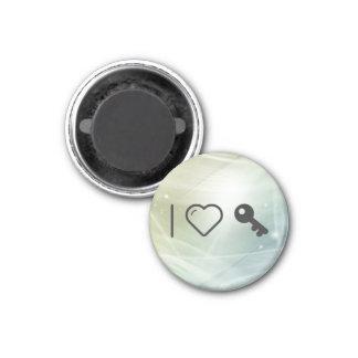 I Love Old Keys 3 Cm Round Magnet