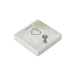 I Love Old Keys Stone Magnet