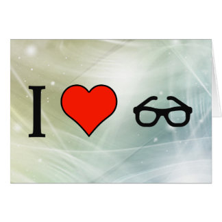I Love Old Reading Glasses Card