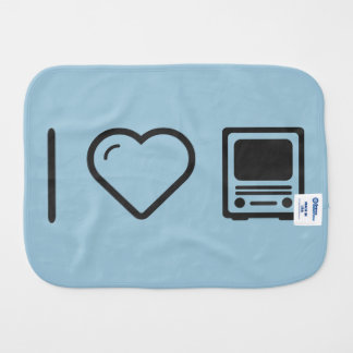 I Love Old Televisions Burp Cloths
