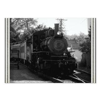 I love old trains - Arcade and Attica Railroad 13 Cm X 18 Cm Invitation Card