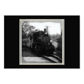 I love old trains - Arcade and Attica Railroad 9 Cm X 13 Cm Invitation Card