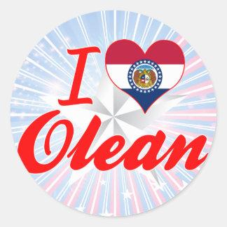 I Love Olean Missouri Stickers