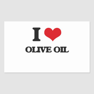 I Love Olive Oil Rectangular Stickers